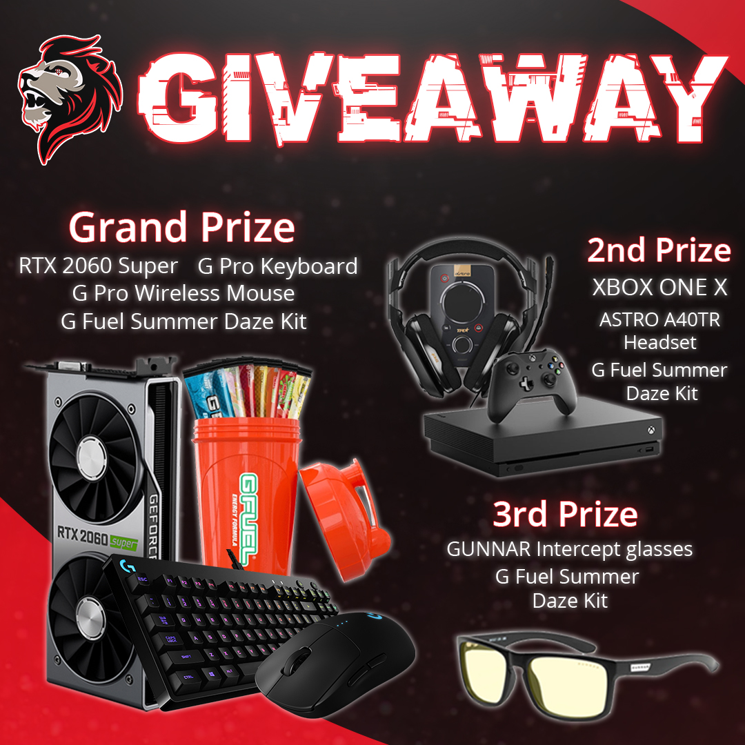 JaredFPS - July 26th - August 25th Giveaway Image