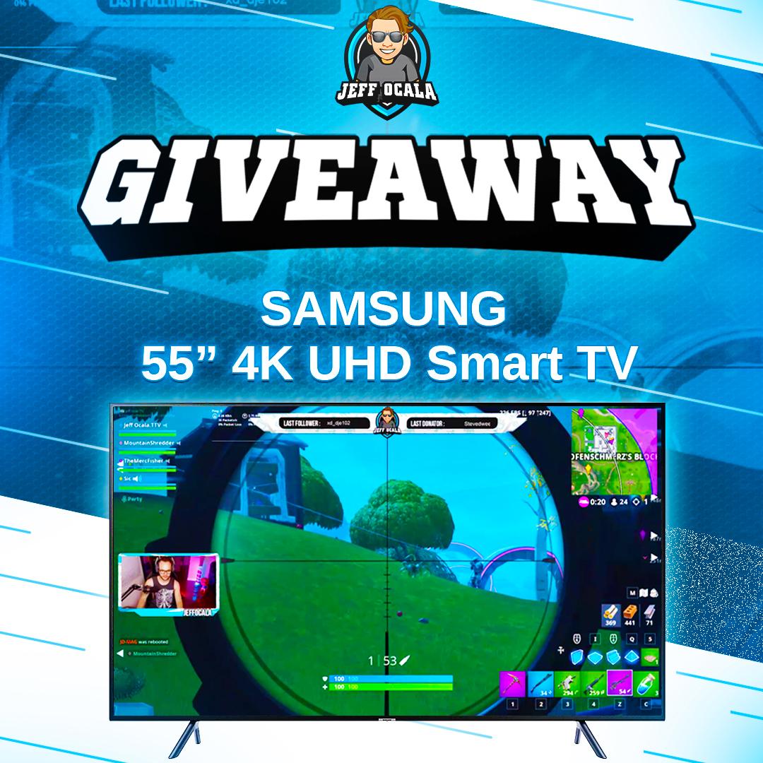 "Win a Samsung 55"" 4K UHD Smart TV Giveaway Image"