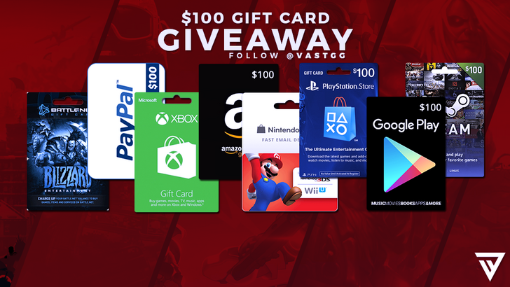 $100 Winner's Choice Gift Card Giveaway