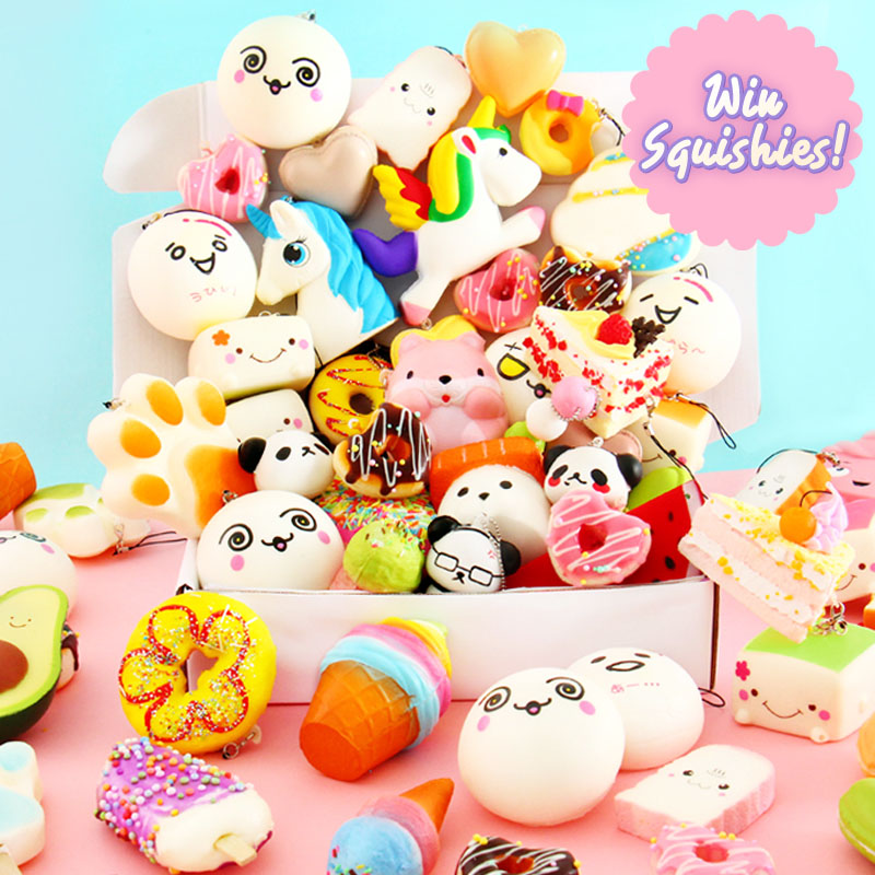 Enter for a chance to win a Squishy prize from Squishy Kiosk - your #1 source for squishies in all shapes and sizes! Giveaway Image