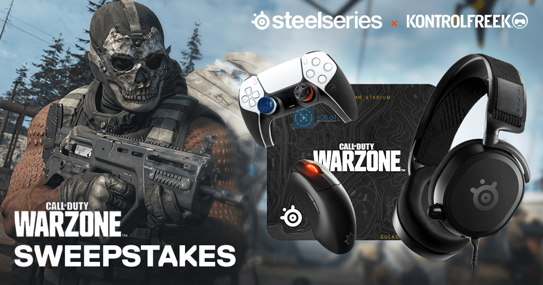 Enter to win a custom Call of Duty Warzone mousepad, headset, wireless mouse, Thumbsticks, KontrolFreek Precision rings and performance grips. 5 Winners! Giveaway Image