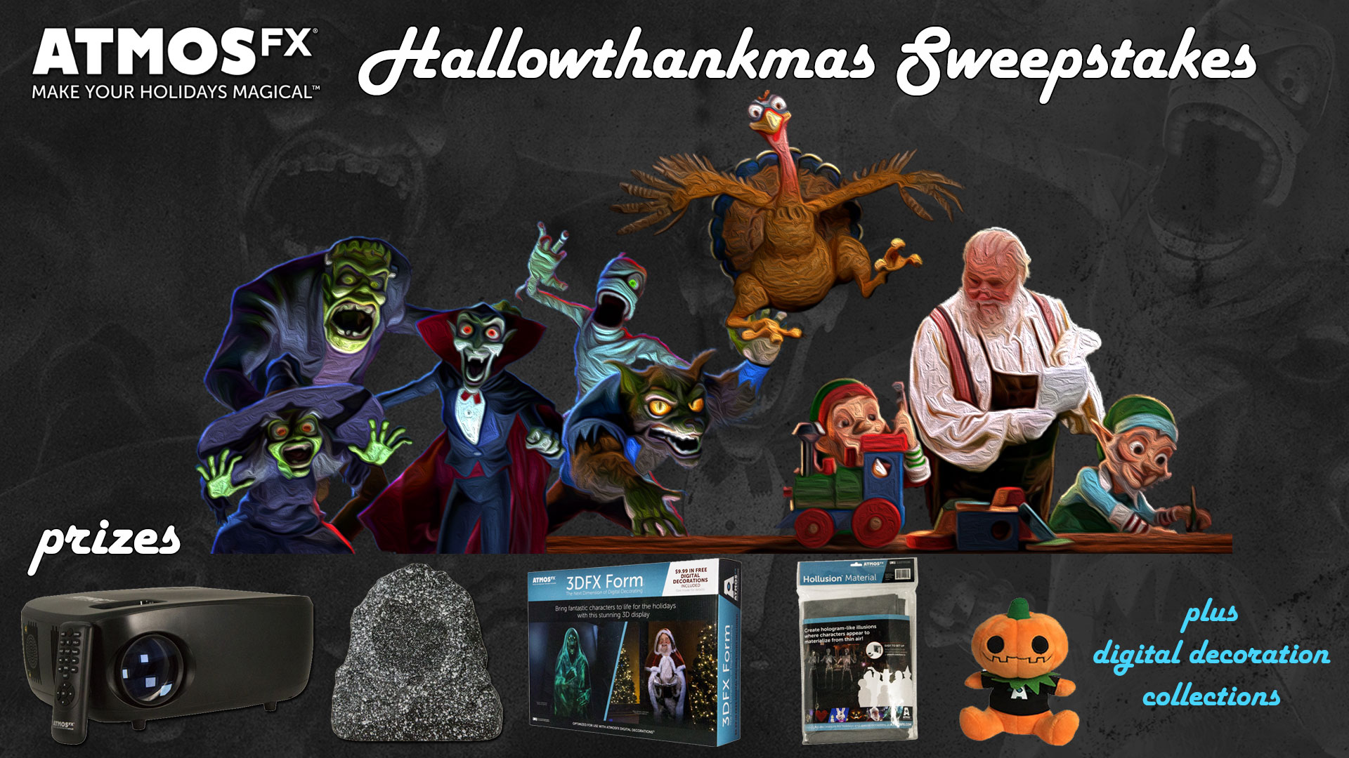 AtmosFX Hallowthankmas Sweepstakes - Win a Holiday Prize Pack - 16 Winners!  some exclusions Giveaway Image