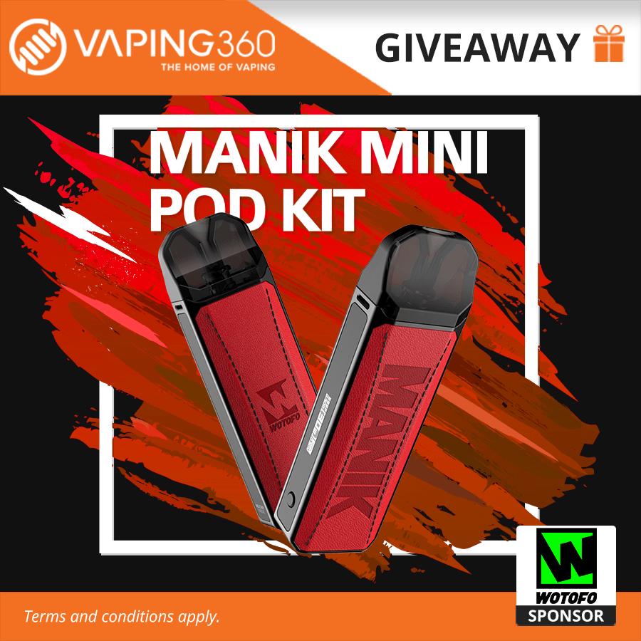 5 winners x Manik Mini Pod Kit Wotofo Giveaway Giveaway Image