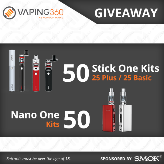 100 SMOK Vape Kits Giveaway with Vaping360