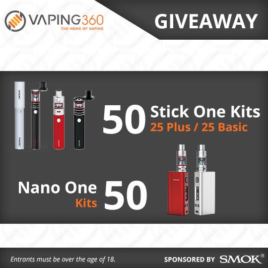 100 SMOK Vape Kits Giveaway with Vaping360