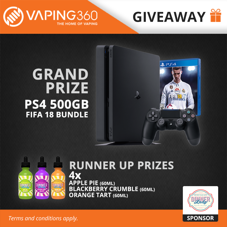 PS4, FIFA 18 and 900ml Dinner Lady E-juice Giveaway