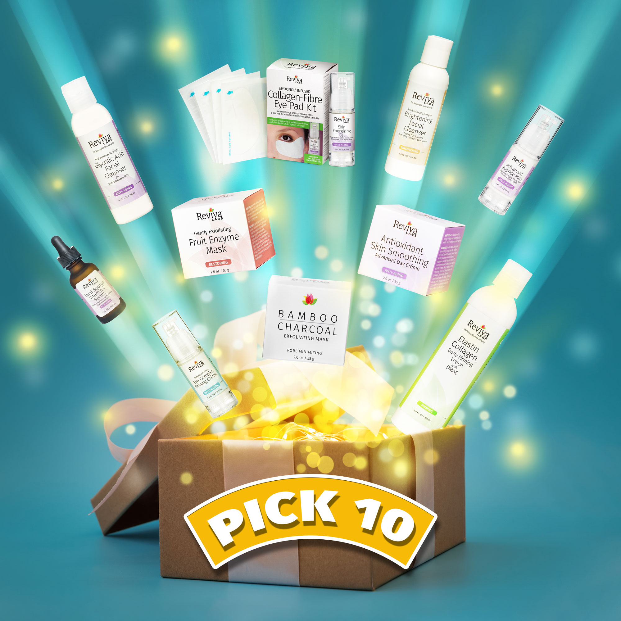 Enter to win your choice of 10 full sized Reviva Labs products. 10 Winners! Giveaway Image