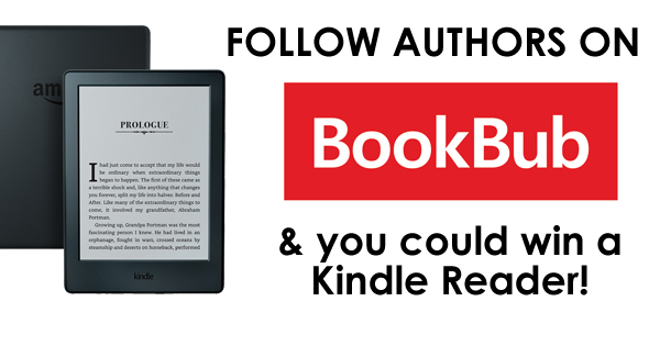 Win a Kindle Reader just by following authors on BOOKBUB!
