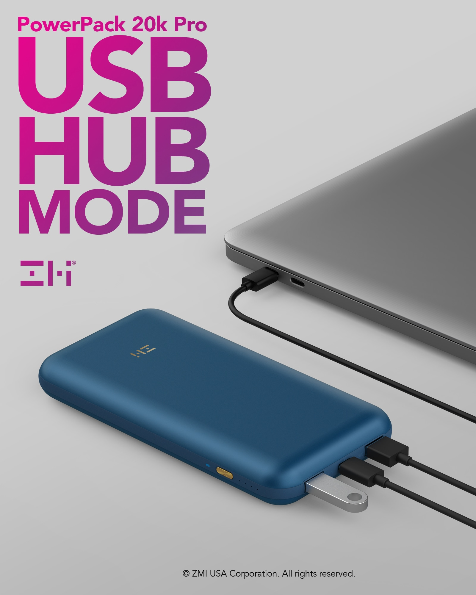 Two ZMI portable battery PowerPacks/USB hubs Giveaway Image