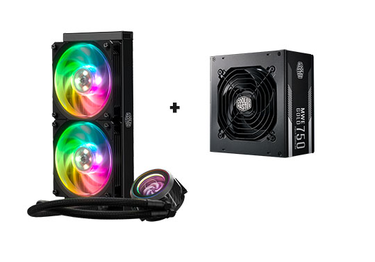 Win a Cooler Master ML240P Mirage AiO, MWE Gold 750W Fully Modular Power Supply Giveaway Image