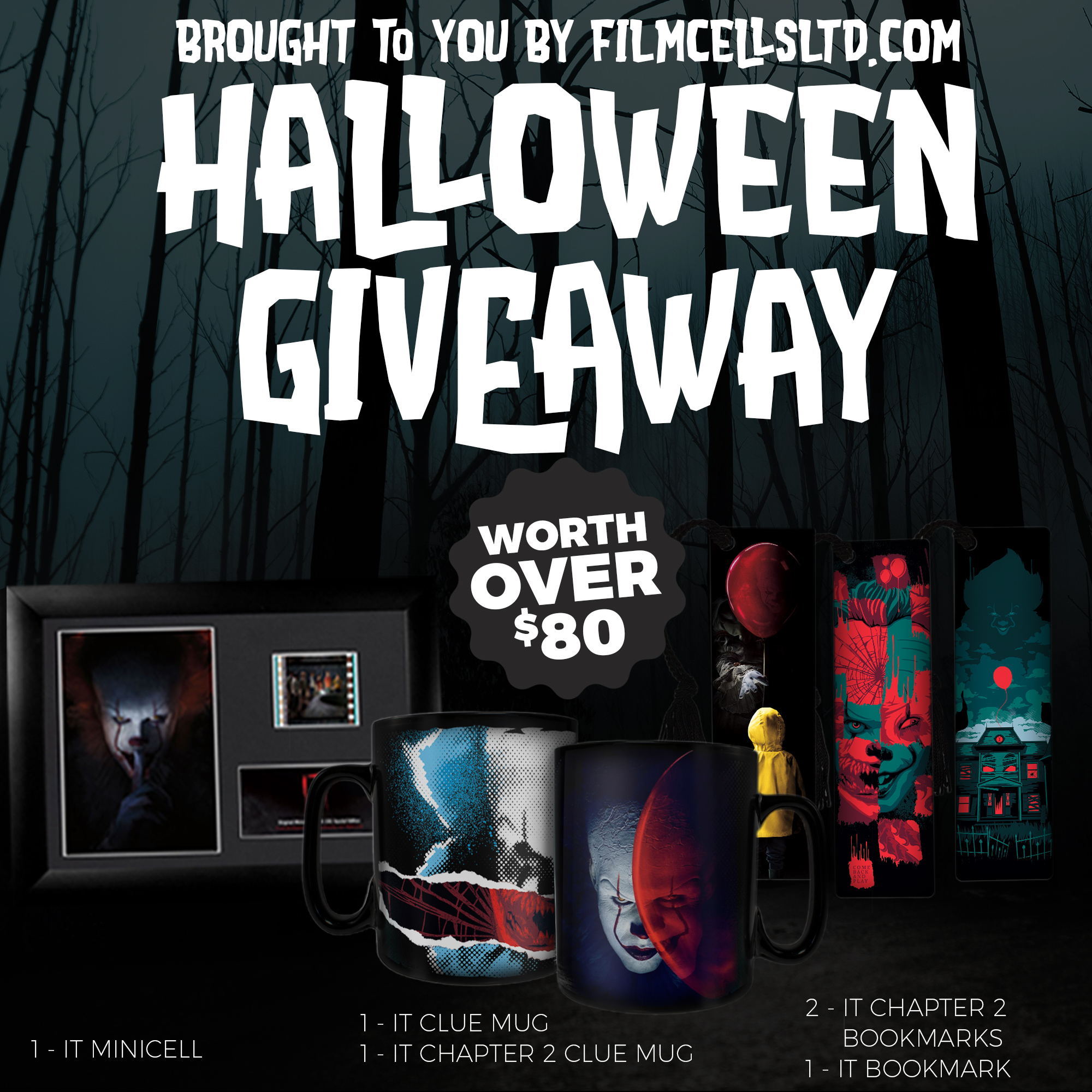 Enter To Win The 2019 Halloween Giveaway From Filmcells, Ltd.