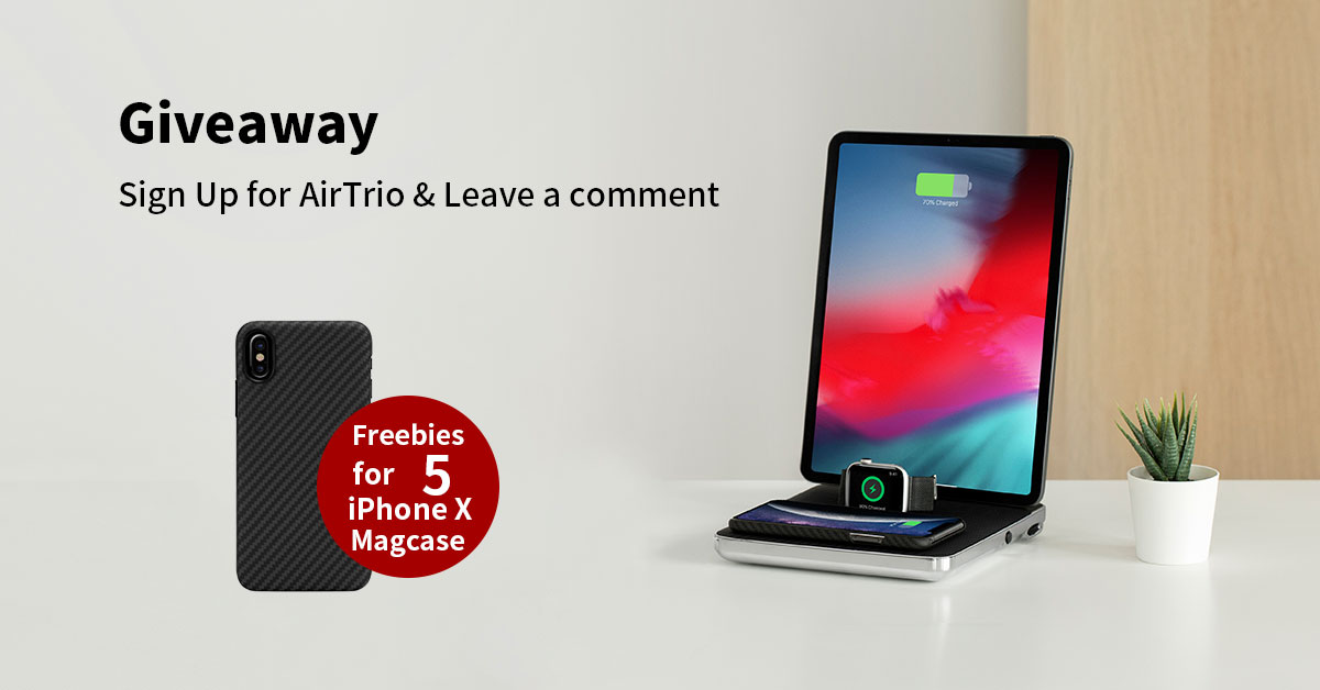 6a82367e086 PITAKA 5 iPhone X Magcase Giveaway & Sign up AirTrio Deck image