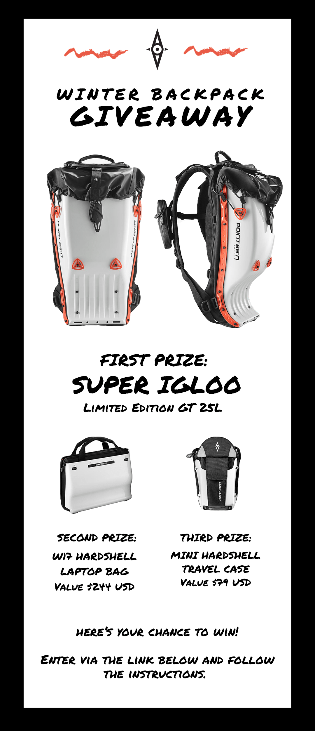 POINT 65 BOBLBEE GT 20L BACKPACK GIVEAWAY