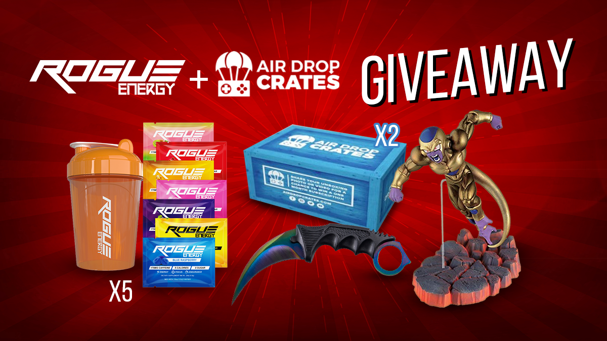 10 Winners:Rogue Energy Starter Kit+DBZ Golden Frieza+ Karambit Knife...and more Giveaway Image