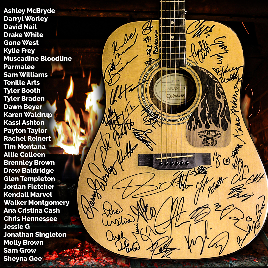 Epiphone Acoustic Guitar Signed by 32 Country Artists   except Africa and Asia Giveaway Image