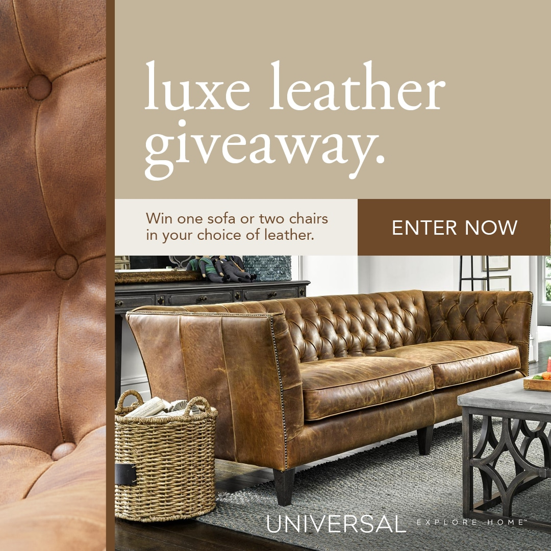 UniversalFurniture Luxe Leather Giveaway