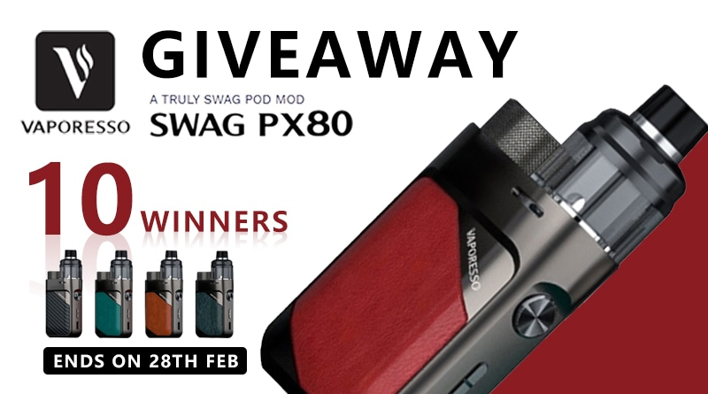 Vaporesso SWAG PX80 Giveaway Image