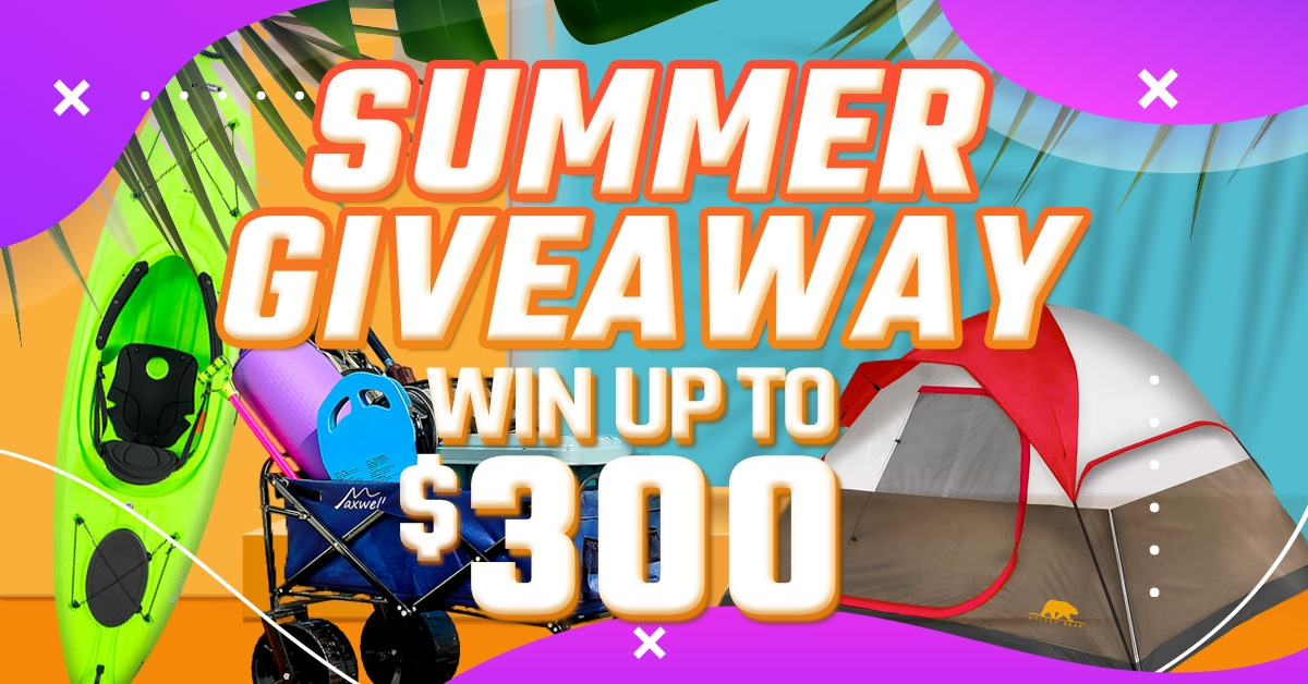 Win a $300 Gift Card! Big 5 Summer Giveaway Giveaway Image
