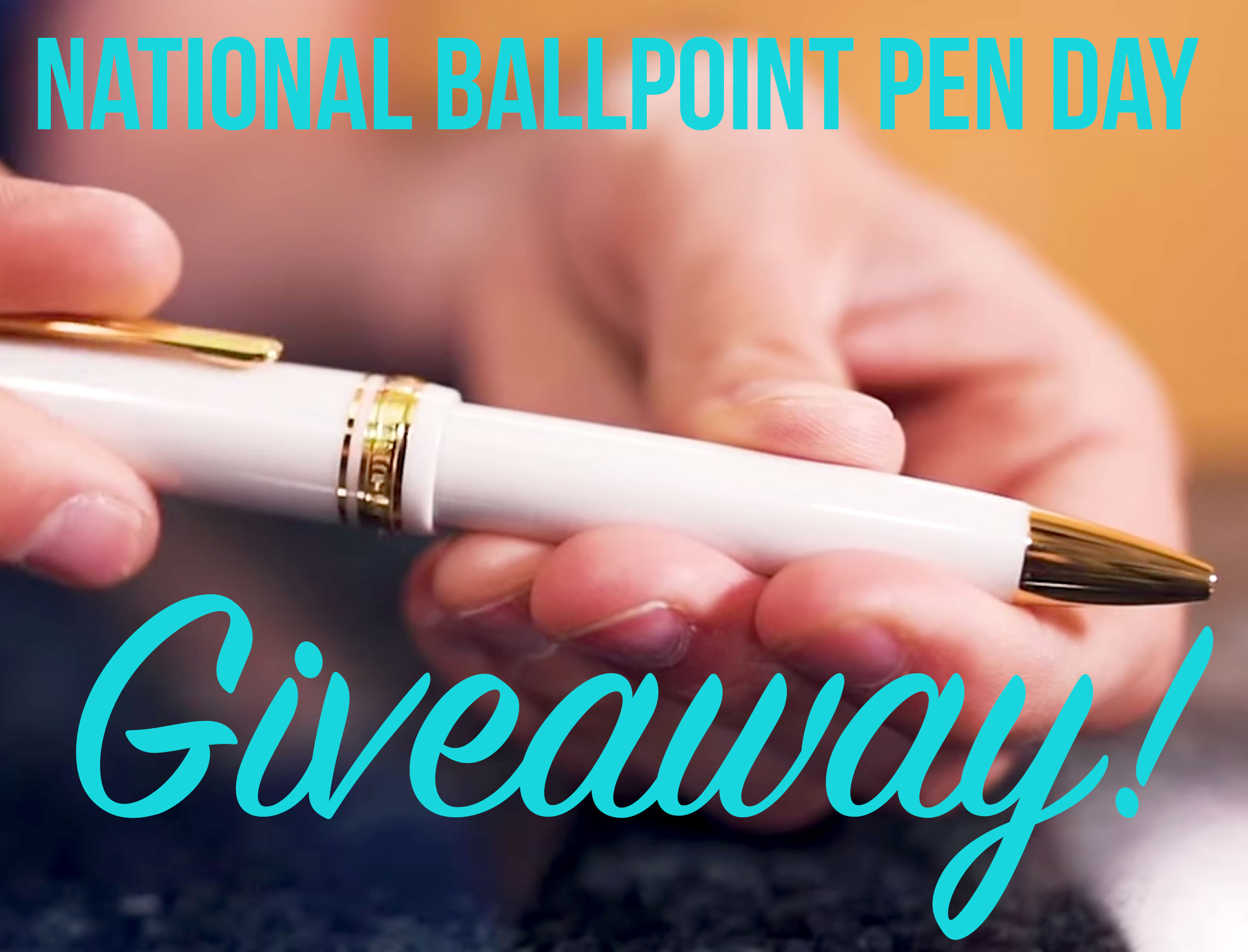 National Ballpoint Pen Day Giveaway Giveaway Image