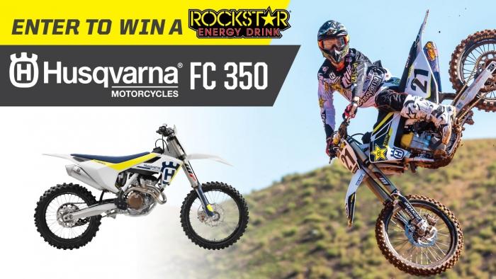 Terribleherbst Win 2017 Husqvarna Fc350 Dirt Bike And A Rockstar