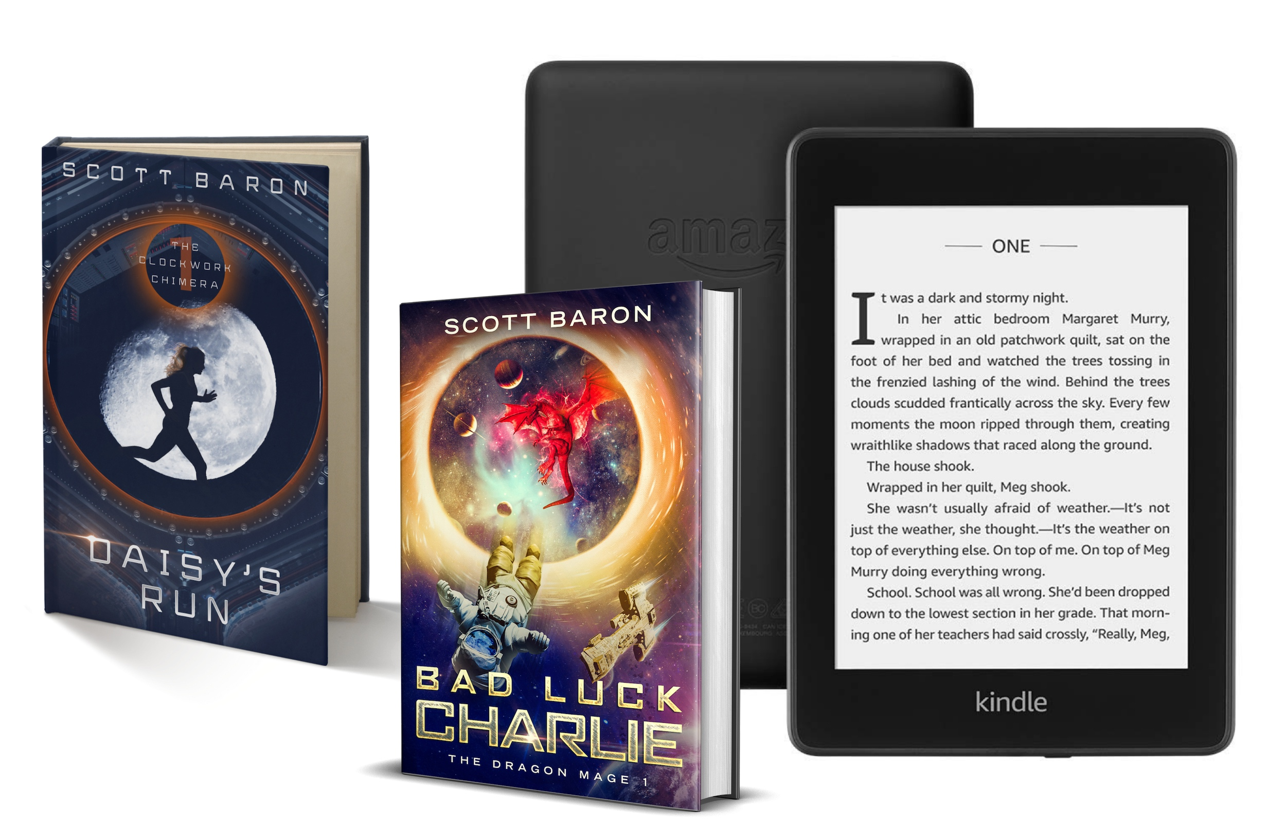 Enter for a chance to win a Kindle Paperwhite and two signed books Giveaway Image