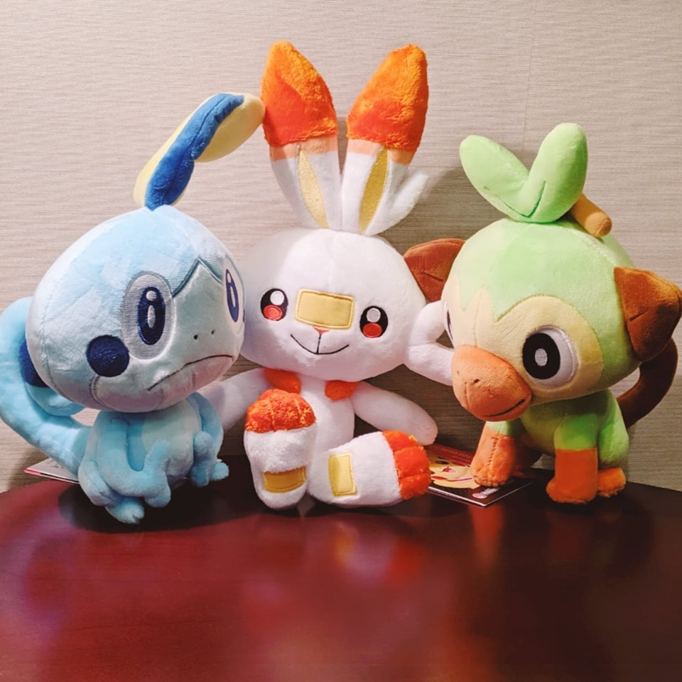 Enter for a chance to win a Set of Pokemon Sword & Shield Starter Plush!  Non-US winner must pay shipping Giveaway Image