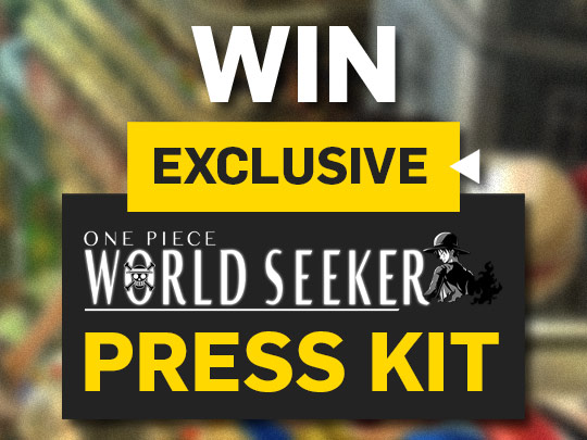 Enter for a chance to win One Piece World Seeker Press Kit: Exclusive 21cm Luffy figurine, a gumgum devil fruit full scale replica, a map of the game on a cloth and more Giveaway Image