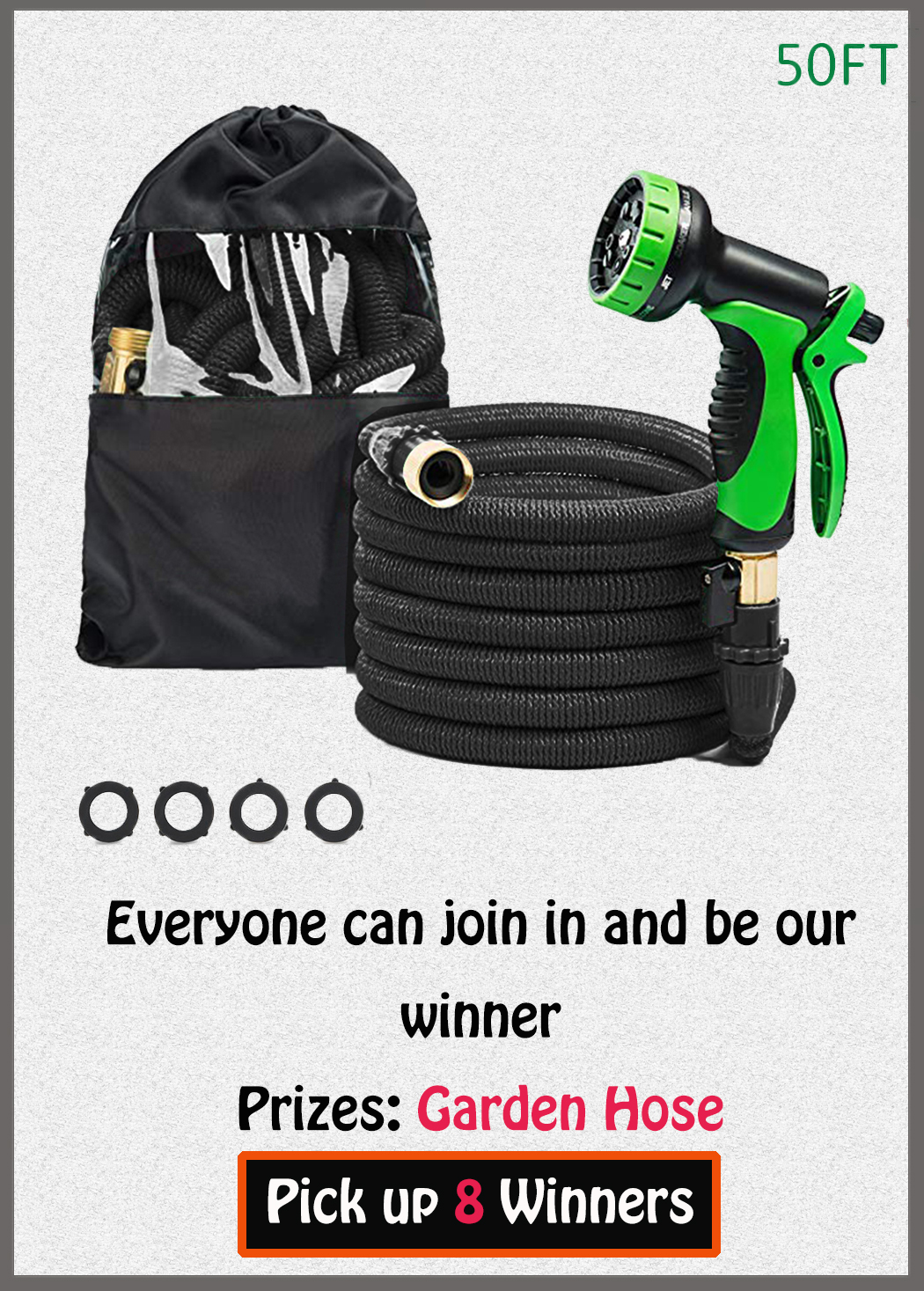 Garden Hose 50 Feet Giveaway - 8 Winners! Giveaway Image