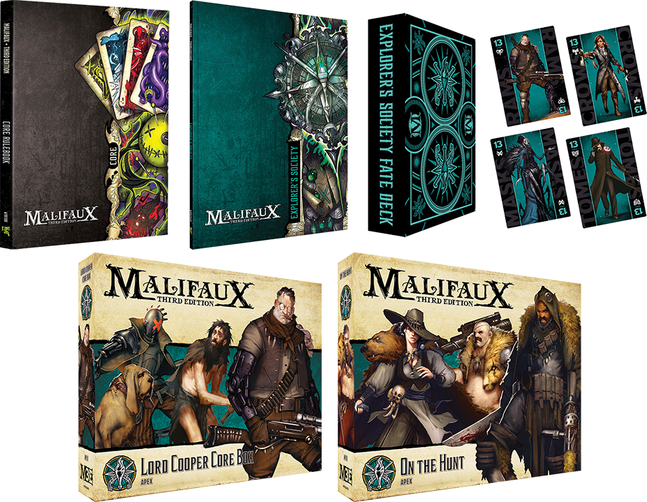 Explorer Society bundle for Malifaux Board Game Giveaway Image