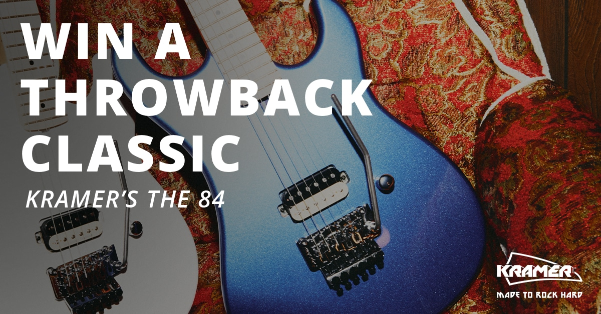 Enter for a Chance to Win Kramer's The 84 Guitar