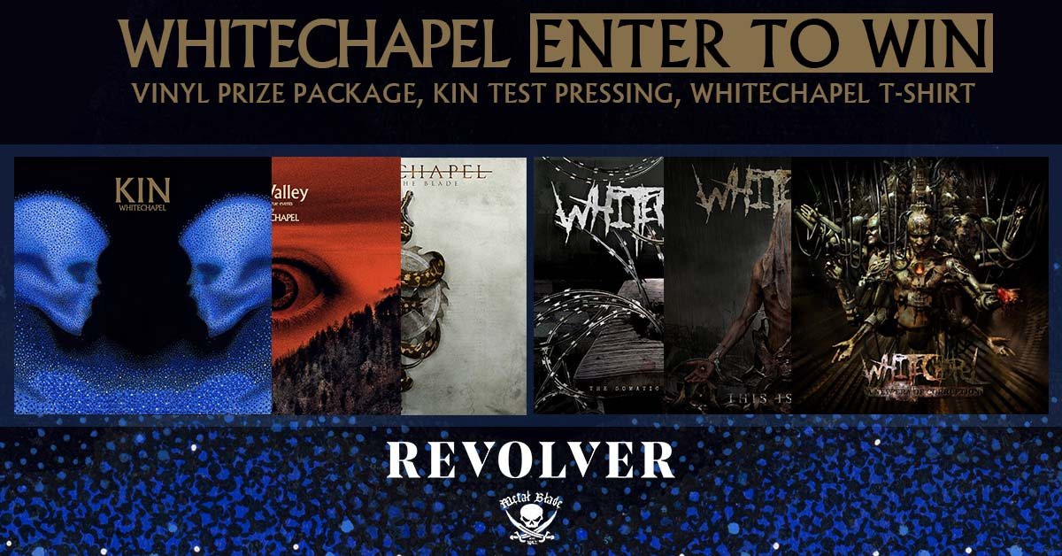 Whitechapel - 'Kin' Vinyl Mega Bundle Giveaway including 6 LPs, a test pressing of their new album kin, and a tshirt. Bundle worth 350 usd Giveaway Image