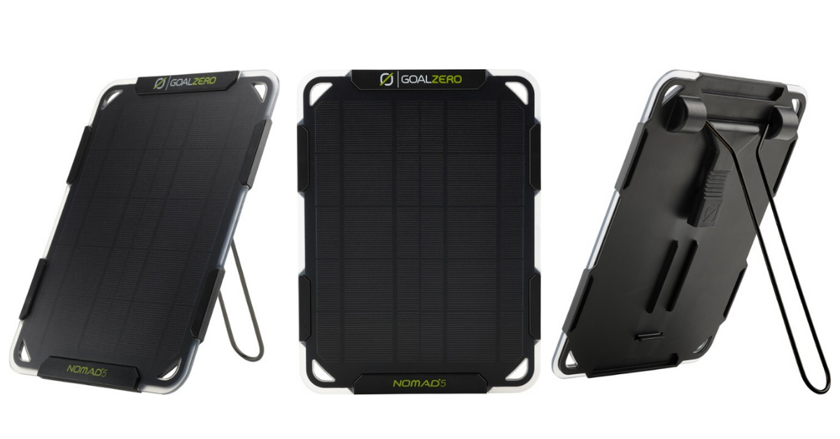 Win a Goal Zero Nomad 5 Solar Panel Charger Giveaway Image