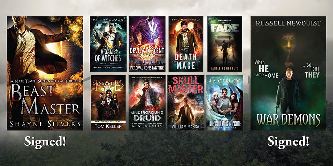 10  Urban Fantasy eBooks + 2 Signed Paperbacks!
