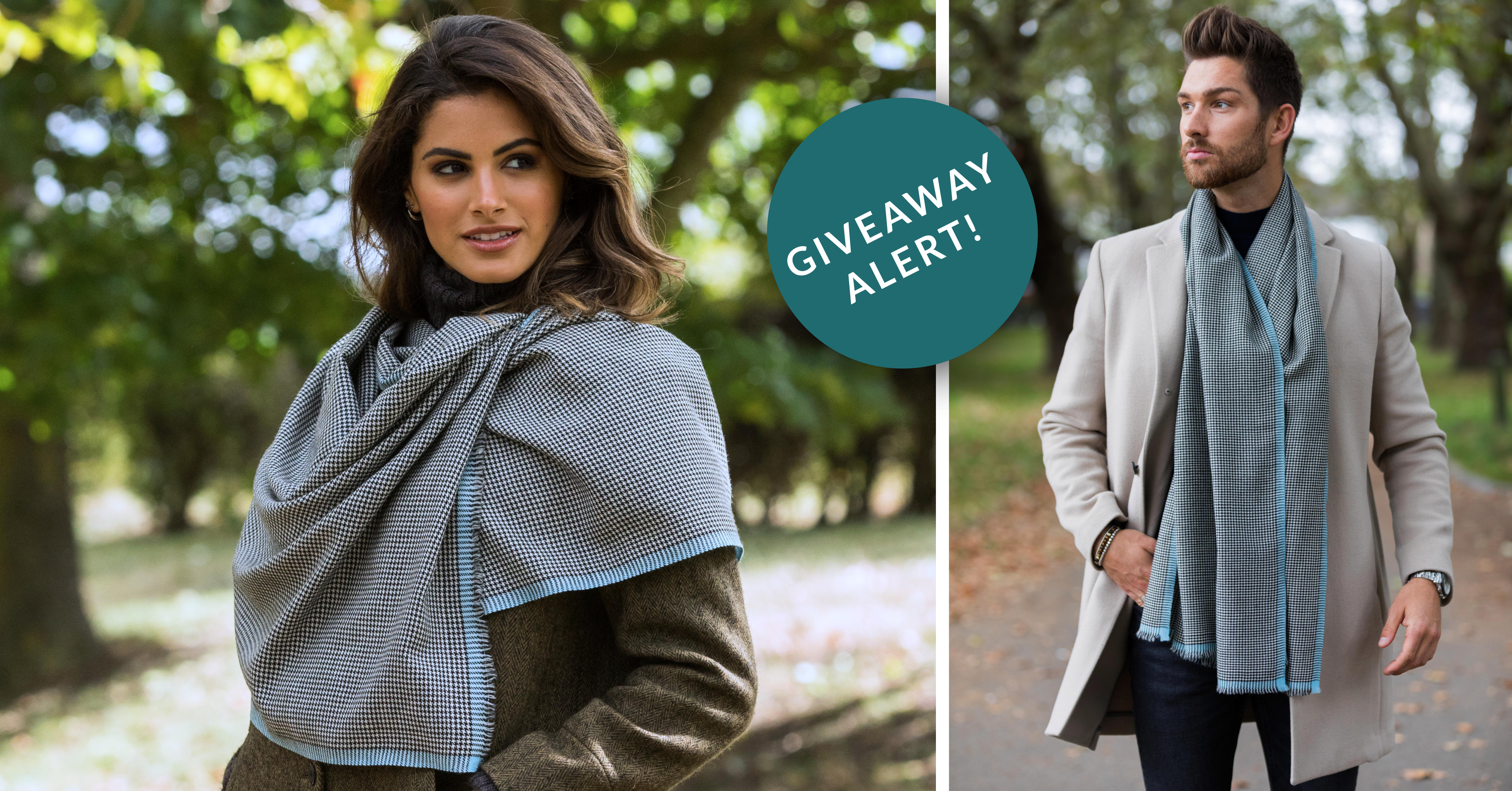 WIN a likemary Houndstooth Pashmina Scarf in Crystal Blue!
