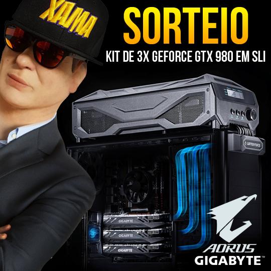 SORTEIO 3 PLACAS DE VÍDEO GTX 980 EM SLI