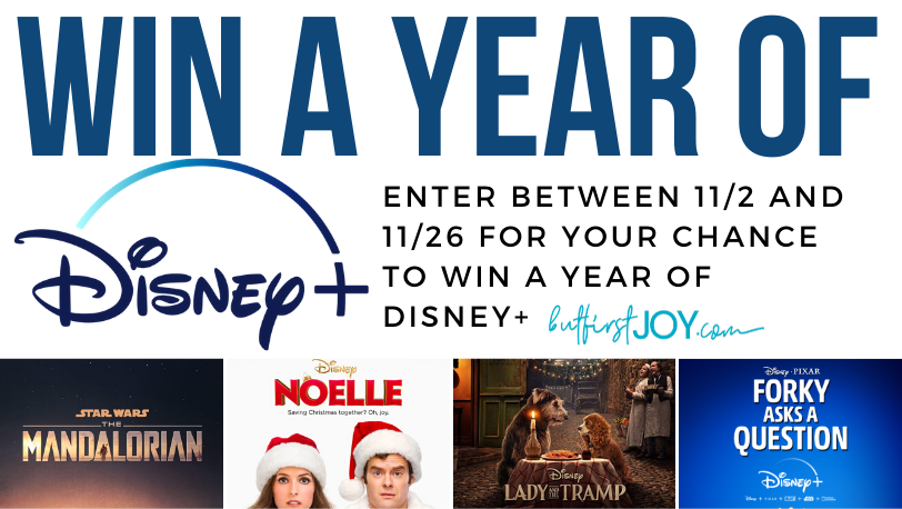 Win a year subscription to Disney+ Giveaway Image