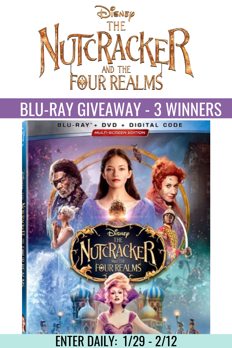 Enter for a chance to win The Nutcracker and The Four Realms on Blu-ray! 3 Winners! Giveaway Image