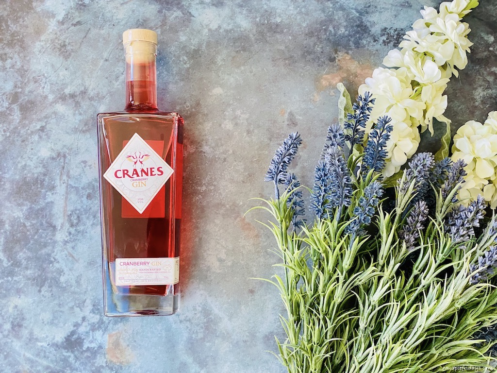 A bottle of Cranes Cranberry Gin