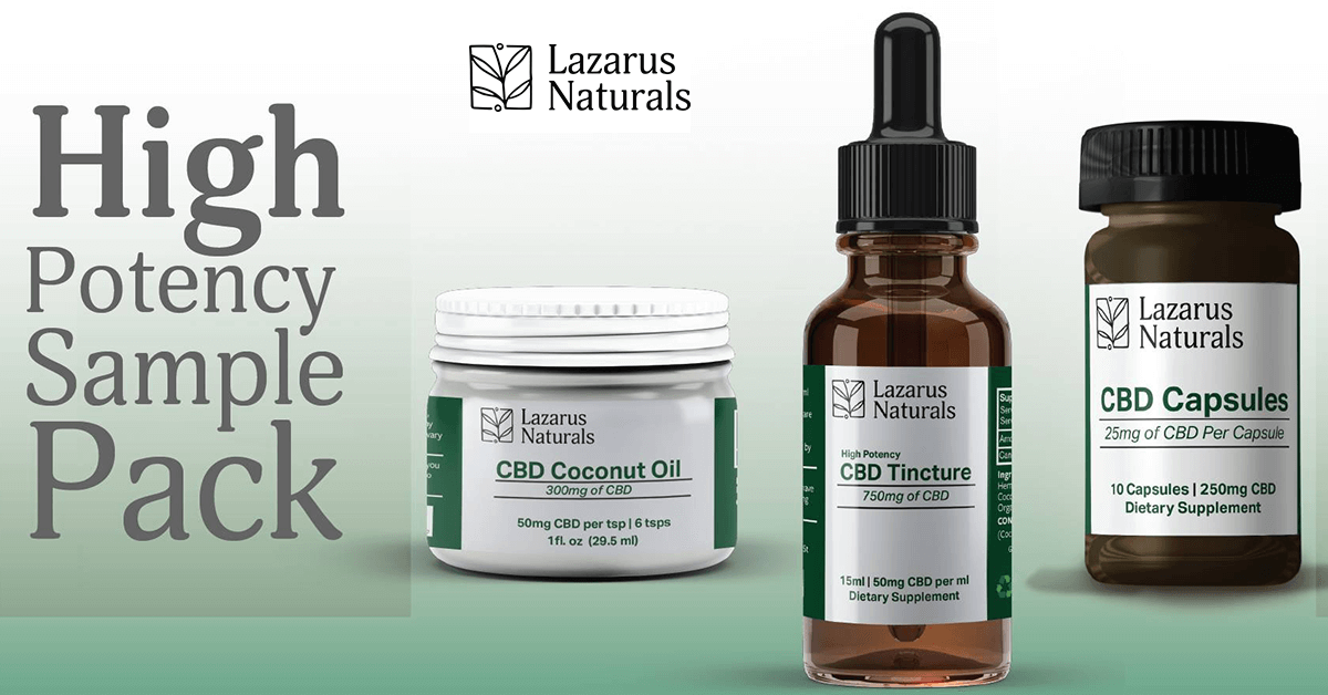 Lazarus Naturals Giveaway - High-Potency Sample Pack $50 Value (10 Winners Will Be Drawn)