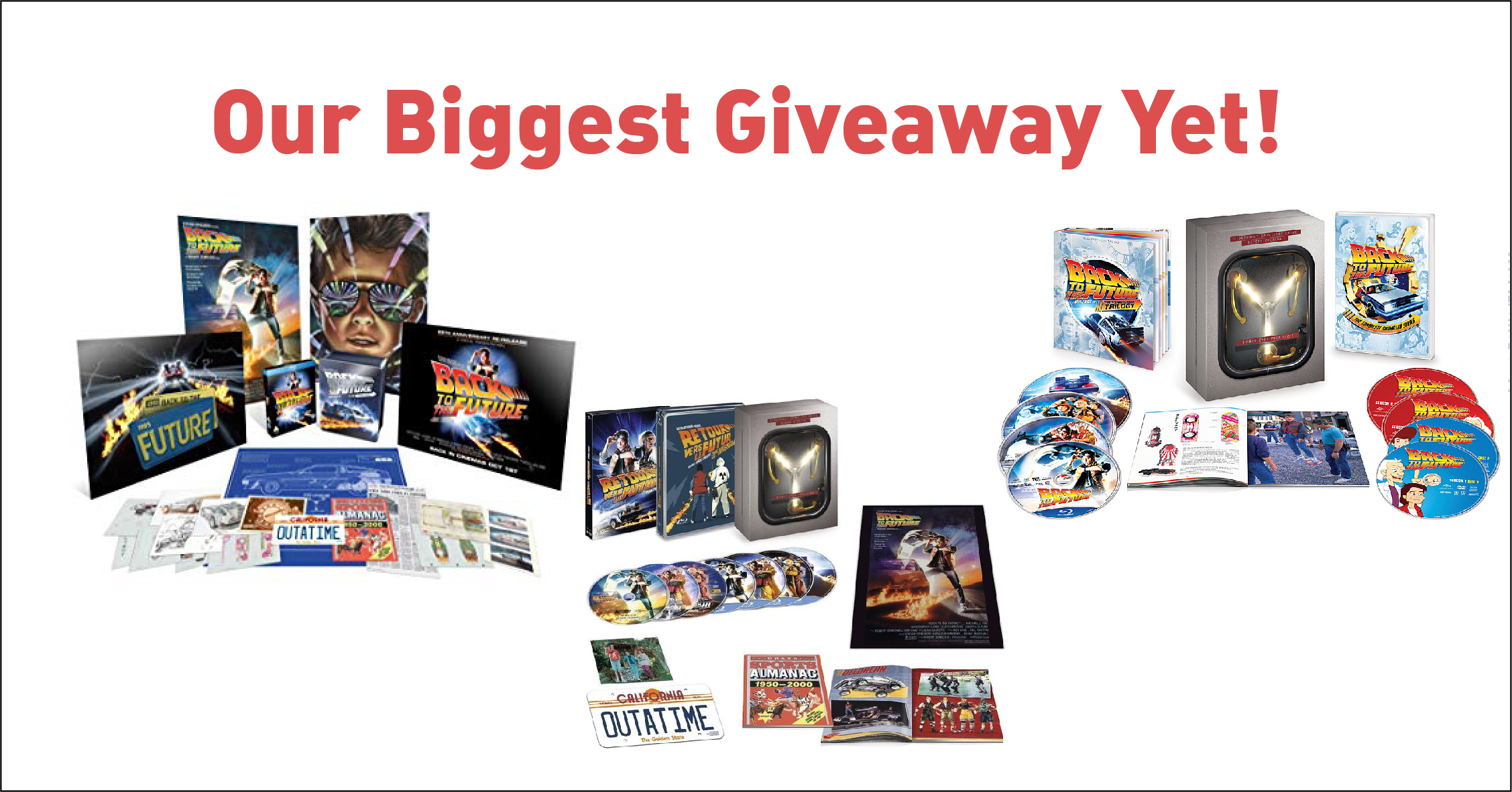 Back to the Future Bundle Merchandaising Giveaway Image