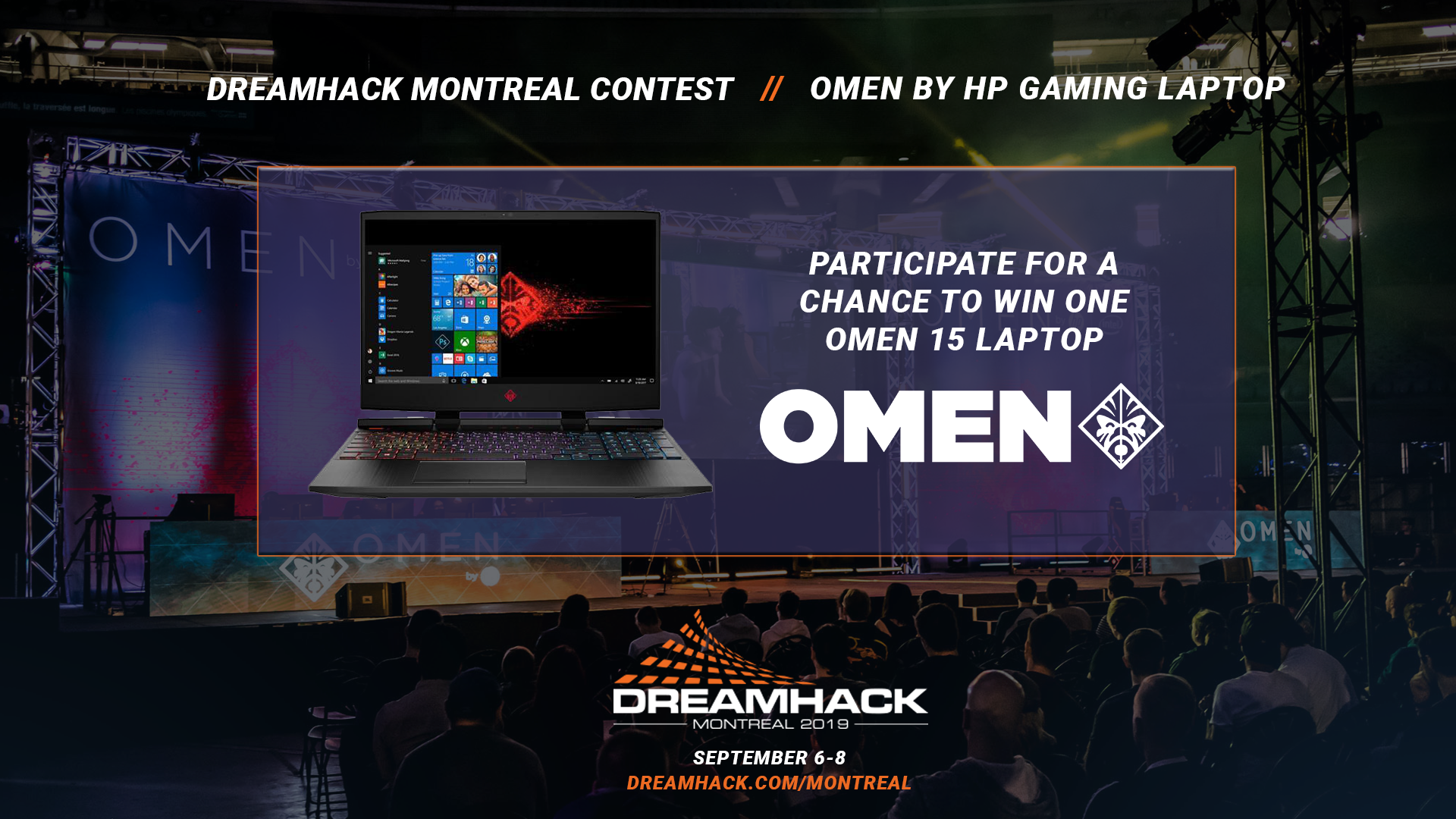 Contest! Win a OMEN by HP Gaming laptop! DreamHack Montreal 2019! Giveaway Image